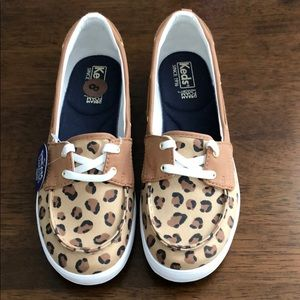 Keds leopard print boat sneakers